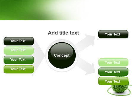 Green Thread Clew PowerPoint Template Slide 14