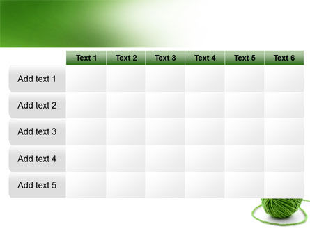 Green Thread Clew PowerPoint Template Slide 15
