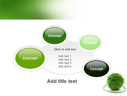 Green Thread Clew PowerPoint Template Slide 16