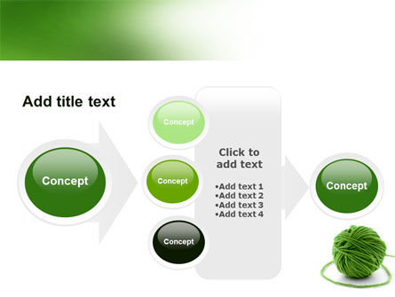 Green Thread Clew PowerPoint Template Slide 17
