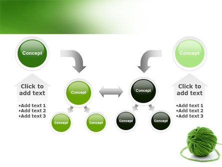 Green Thread Clew PowerPoint Template Slide 19