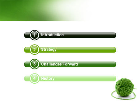 Green Thread Clew PowerPoint Template Slide 3