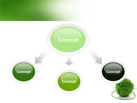 Green Thread Clew PowerPoint Template Slide 4
