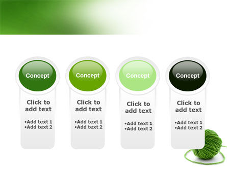 Green Thread Clew PowerPoint Template Slide 5
