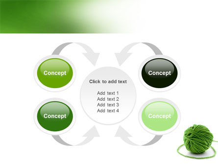 Green Thread Clew PowerPoint Template Slide 6