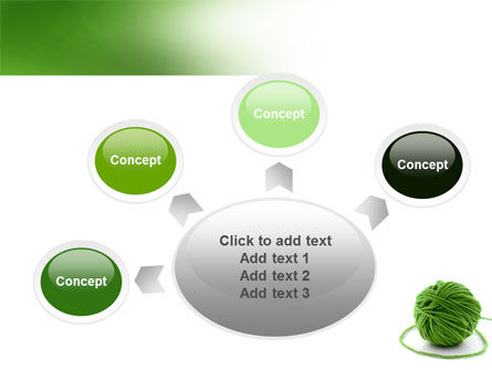 Green Thread Clew PowerPoint Template Slide 7