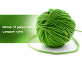Business Concepts: Green Thread Clew PowerPoint Template #07346