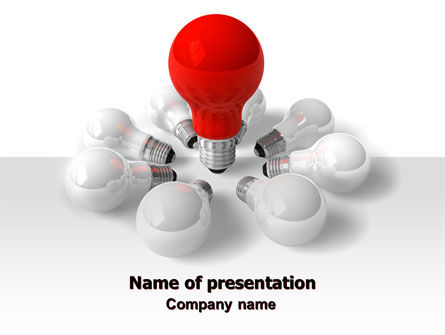 Consulting: Red Bulb PowerPoint Template #07347