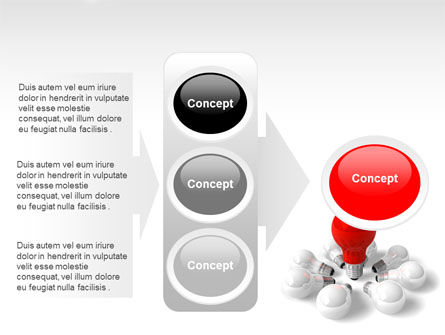 Red Bulb PowerPoint Template Slide 11