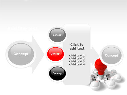 Red Bulb PowerPoint Template Slide 17