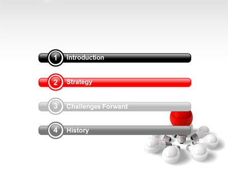 Red Bulb PowerPoint Template Slide 3
