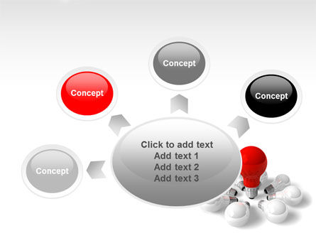 Red Bulb PowerPoint Template Slide 7