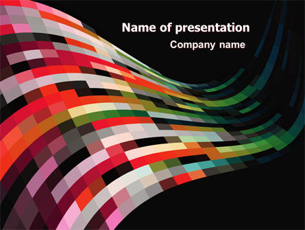 Abstract/Textures: Palet Wave PowerPoint Template #07348