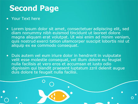 Fish Theme PowerPoint Template Slide 2