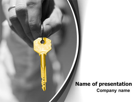 Gold Key PowerPoint Template