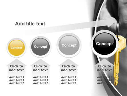 Gold Key PowerPoint Template Slide 13