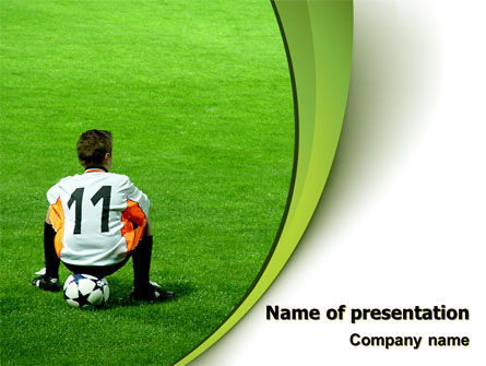 Little Football Player PowerPoint Template, 07351, Careers/Industry — PoweredTemplate.com