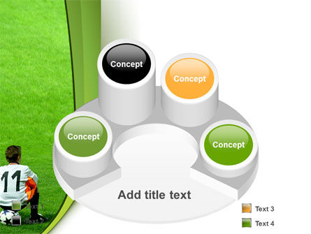 Little Football Player PowerPoint Template Slide 12