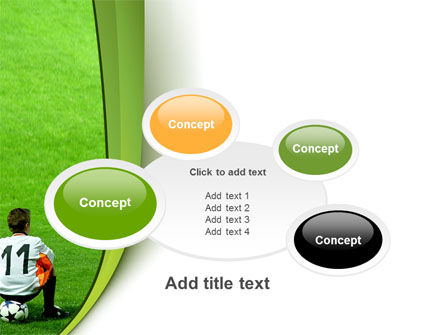 Little Football Player PowerPoint Template Slide 16