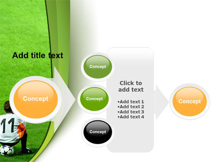 Little Football Player PowerPoint Template Slide 17