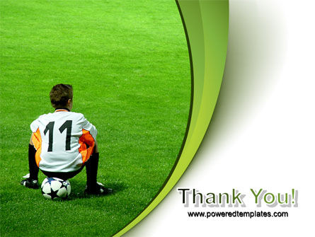 Little Football Player PowerPoint Template Slide 20