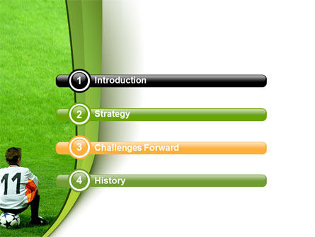 Little Football Player PowerPoint Template, Slide 3, 07351, Careers/Industry — PoweredTemplate.com