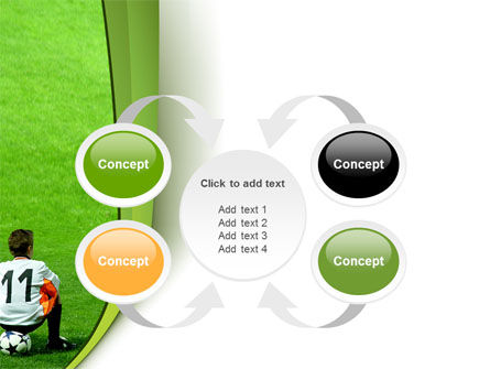 Little Football Player PowerPoint Template Slide 6