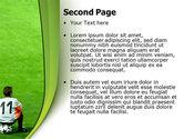 Little Football Player PowerPoint Template#2