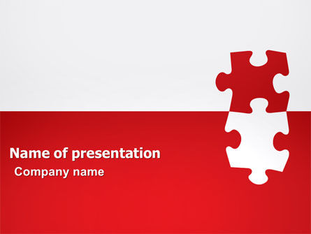 Consulting: Red Jigsaw Pieces PowerPoint Template #07352