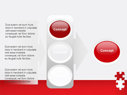 Red Jigsaw Pieces PowerPoint Template Slide 11