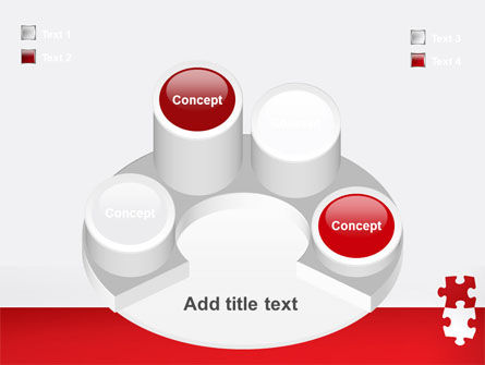 Red Jigsaw Pieces PowerPoint Template Slide 12
