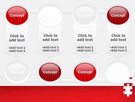 Red Jigsaw Pieces PowerPoint Template Slide 18