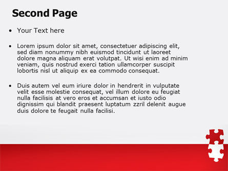 Red Jigsaw Pieces PowerPoint Template Slide 2