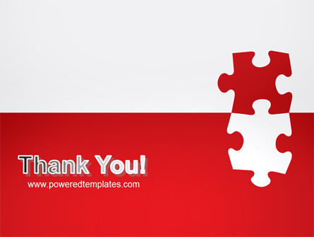 Red Jigsaw Pieces PowerPoint Template Slide 20