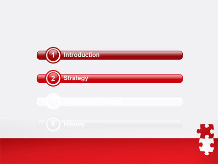 Red Jigsaw Pieces PowerPoint Template Slide 3