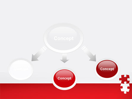 Red Jigsaw Pieces PowerPoint Template, Slide 4, 07352, Consulting — PoweredTemplate.com