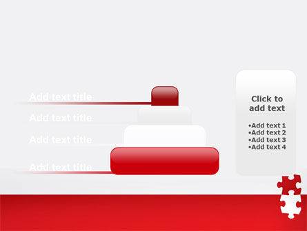 Red Jigsaw Pieces PowerPoint Template Slide 8