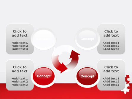 Red Jigsaw Pieces PowerPoint Template Slide 9