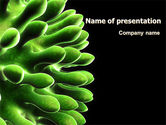 Technology and Science: Virus Green PowerPoint Template #07353