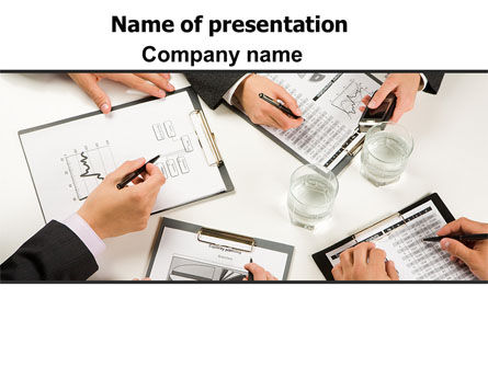 Business: Team Discussion PowerPoint Template #07354