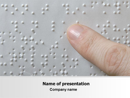 Education & Training: Braille Book PowerPoint Template #07355