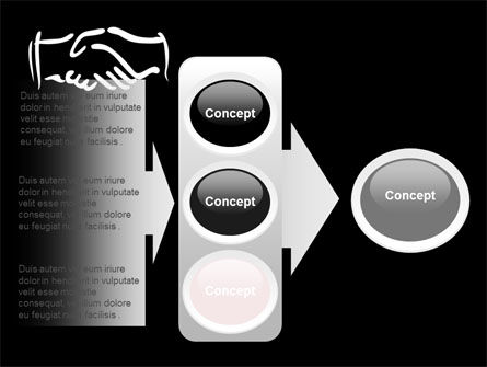 Schematic View Of A Handshake PowerPoint Template Slide 11