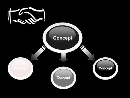 Schematic View Of A Handshake PowerPoint Template, Slide 4, 07356, Business — PoweredTemplate.com