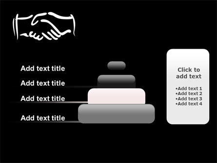 Schematic View Of A Handshake PowerPoint Template Slide 8