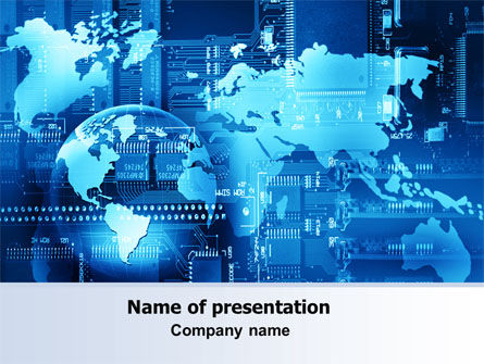 Technology and Science: World Business Building PowerPoint Template #07357