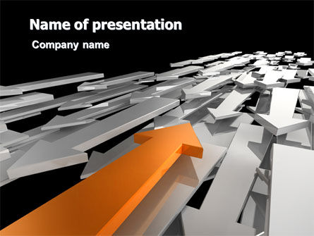 Opposite Direction PowerPoint Template
