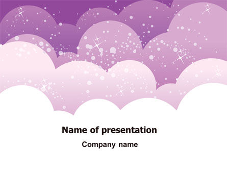 Lilac Clouds PowerPoint Template