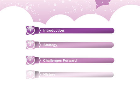 Lilac Clouds PowerPoint Template Slide 3