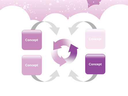 Lilac Clouds PowerPoint Template Slide 6
