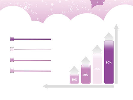 Lilac Clouds PowerPoint Template Slide 8